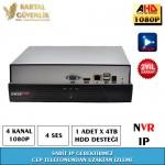 4 Kanal Nvr Kayit Cihazı- 154
