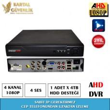 4 Kanal 1080P AHD Kayit Cihazı- 121
