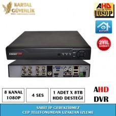8 Kanal 1080P AHD Kayit Cihazı- 123