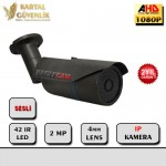 2mp 42 IR Led 4mm Ip Kamera (Sony Exmor)- 221