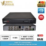 8 Kanal 1080N AHD Kayit Cihazı- 122