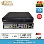 4 Kanal 1080N AHD Kayit Cihazı- 120